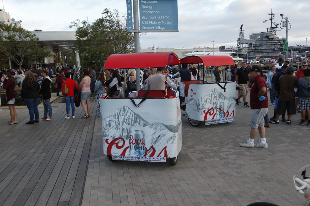 coorslight pedicab