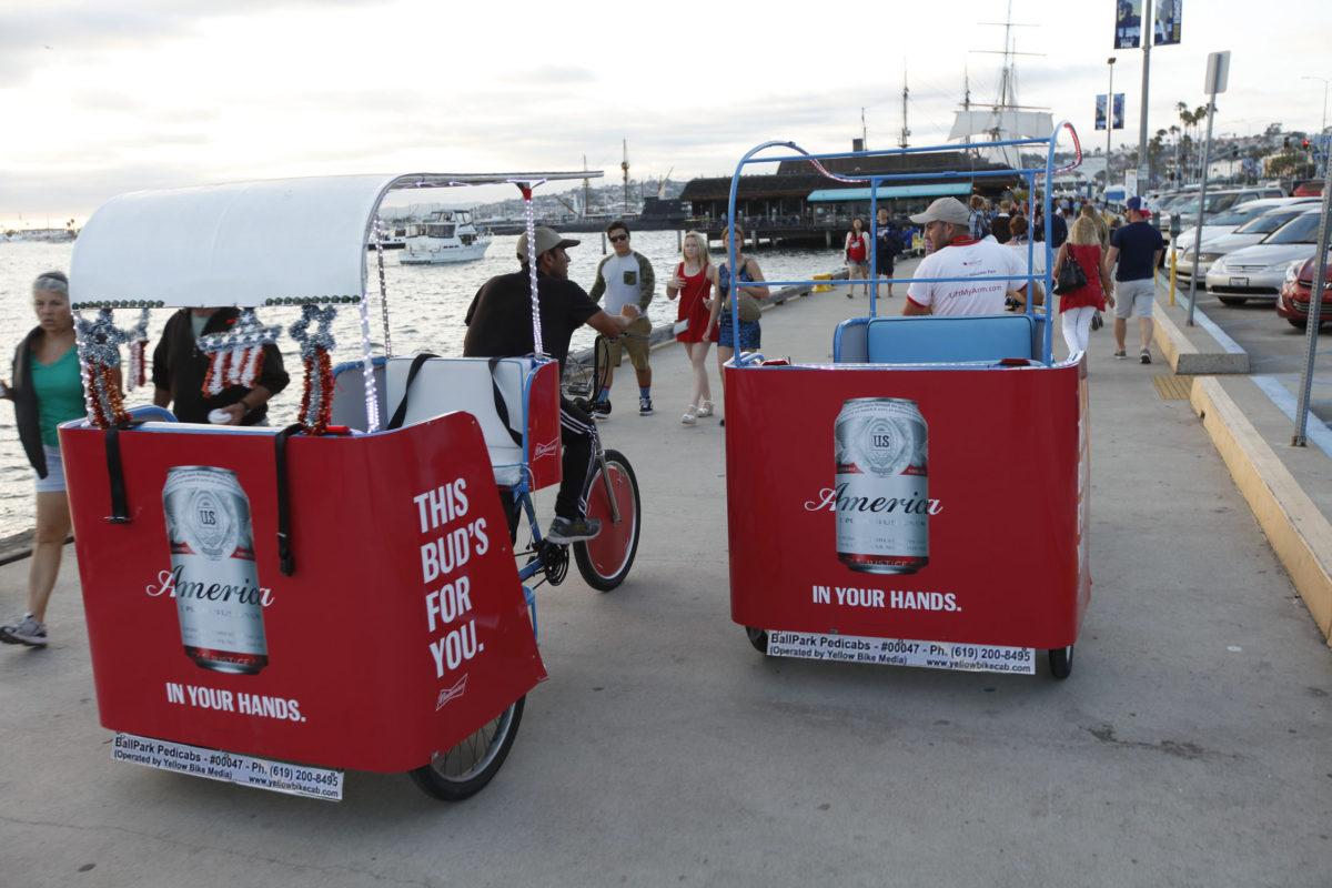 budweiser pedicab